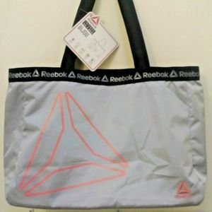Reebok Water Resistant Gray Gym Sports Tote Bag